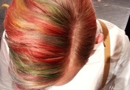 After the show, a closer look - Incredible colour by #Davines - Photo by Sarie de Jager